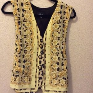 A.B.S yellow and black vest Small